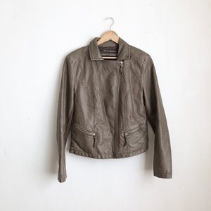 Marc New York Andrew leather jacket brown- M